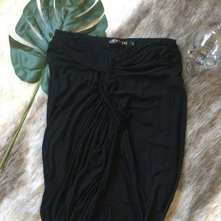 Black Skirt With Knot Detail Size 8