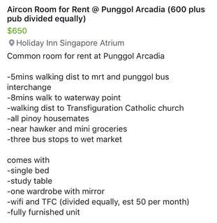 Room for Rent 5 mins walk to Punggol MRT