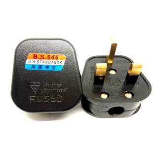 3 Pin SG UK AC 220v 240v Wall socket plug adapter DIY