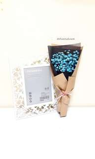 Fresh Flower 🌼 Blue Baby's Breath Kraft Bouquet
