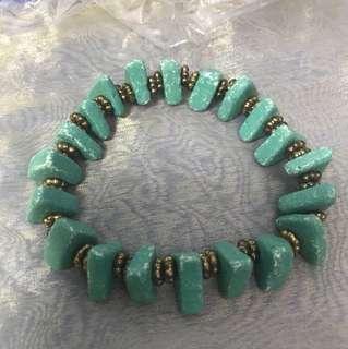 BN korea beach theme Tiffany blue mint green bracelet