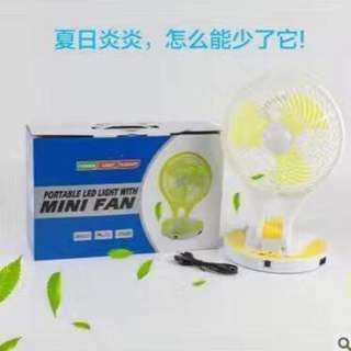 🐻PORTABLE LED LIGHT WITH MINI FAN 🐻