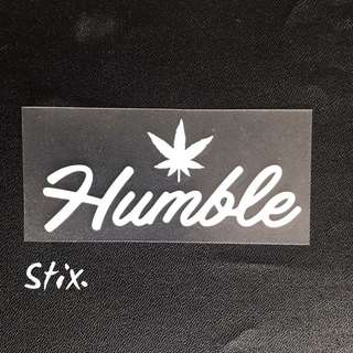 Humble Vinyl Cut Sticker