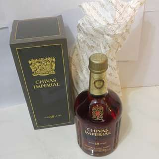 (959) 80年代 CHIVAS IMPERIAL WHISKY18YEARS 750ML 43% (有盒) 日本法國舊酒洋酒威士忌白蘭地干邑拿破崙whisky brandy cognac xo vsop napoleon