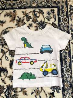 vehicles printed white t short