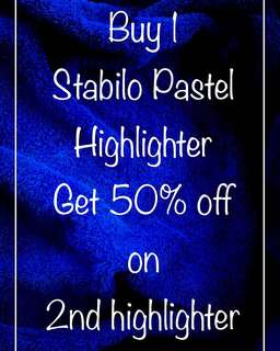 Pastel highlighters buy 1 get 50% off on 2nd