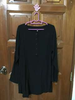 Black Blouse with buttons