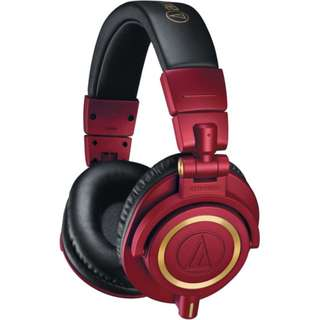 (CHEAPEST) Audio Technica ATH-M50xRD Limited Edition Headphones (Black Left)