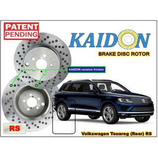 "Volkswagen Touareg brake disc rotor KAIDON (REAR) type ""RS"" / ""BS"" spec"