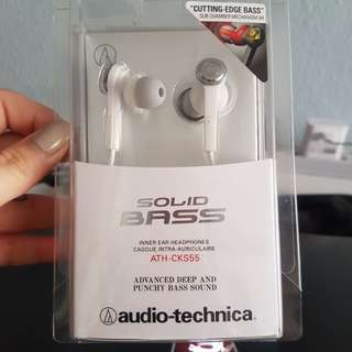 Audio Technica ATH-CKS55 Solid Bass Inner Ear Headphones