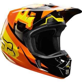 Fox V2 Anthem Helmet Orange 2014