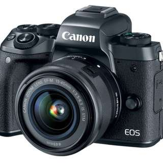 Canon EOS M5 Mirrorless Camera EF-M 15-45mm f/3.5-6.3 IS STM Lens