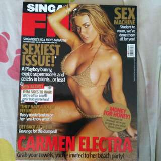 Fhm Oct 2003 Carmen electra
