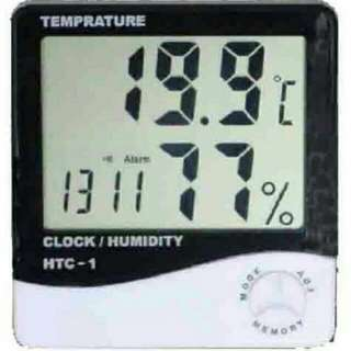 Hygrometer, thermometer & clock