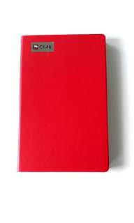 CIMB chic red notebook/ planner
