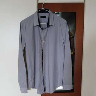 Grey striped dress shirt