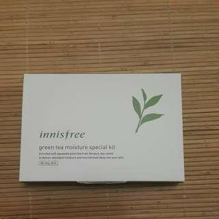 韓國innisfree綠茶超含水護膚體驗組