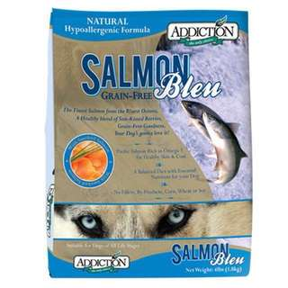 1 packet of Addiction Salmon Bleu Grain Free Dry Dog Food 4 lbs (1.8 kg)
