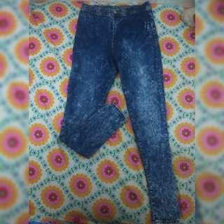 Jeans High Waist Acid Navy