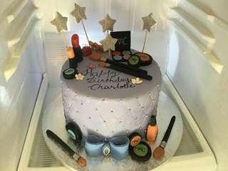 Cake - makeup theme cake