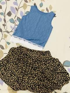 shirt and palda short (bubdle)