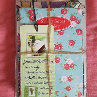 Sticky Note, Fancy Notebook, Stationary Paper and Free Bookmark