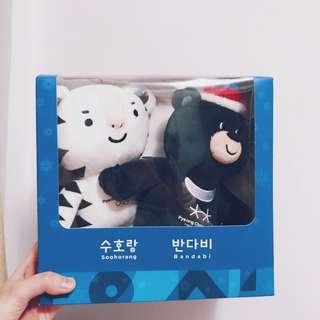 韓國平昌 2018冬季奧運會紀念品 公仔