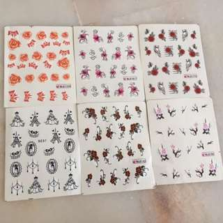 Nails Stickers 6 designs