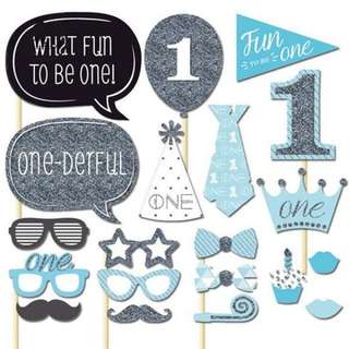 (Preorder) 1st Birthday Photo Booth Crops