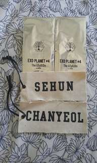 EXOPLANET#4 THE ELYXION IN JAPAN SEHUN & CHANYEOL FABRIC TAGS