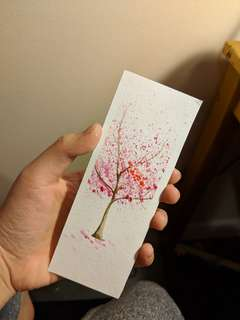 Watercolor book mark