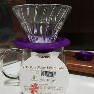 Hario V60 Dripper and Pot CLAIR