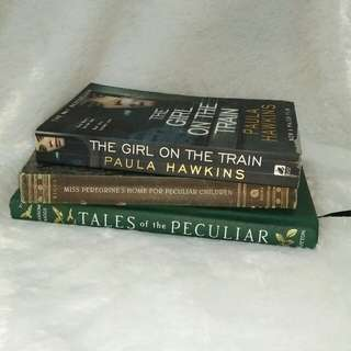 Miss Peregrines, Tales of the Peculiar, The Girl on the Train. BOOKS