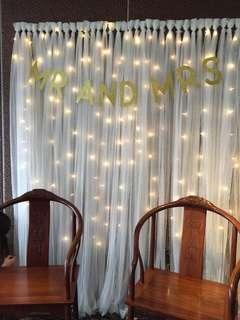 Wedding Backdrop Deco & Fairy Lights Rental