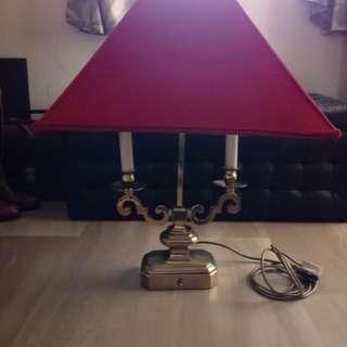 Genuine solid metal vintage table lamp