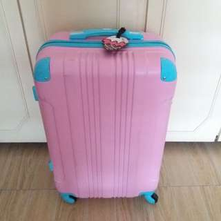 """24"""" inch luggage pink"""