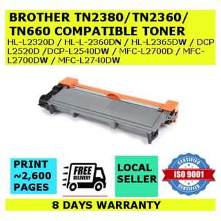 [INSTOCKS] Brother TN2380/TN660 Compatible Black Toner Cartridge High Yield