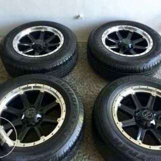 Black rhino mags with tires