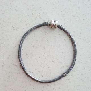 Auth Pandora oxidised Bracelet 19cm