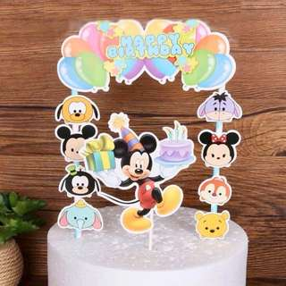 🌈 Disney Mickey Tsum Tsum party supplies - DIY Cake Deco / cake toppers