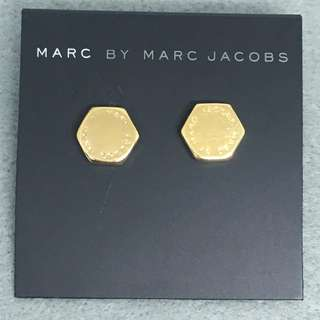 Marc Jacobs Sample Earrings 六角形金色耳環
