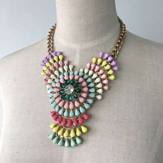 Brand new 3 layers tiers pastel rainbow necklace