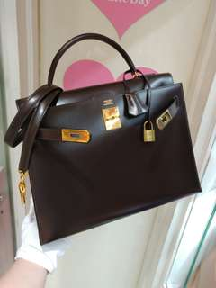 Hermes kelly 32 brown