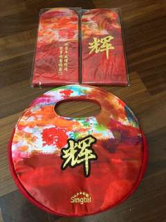 Singtel Red Packets with Mandarin Bag. Complete Set. Bundle Price