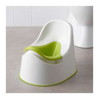 [IKEA] LOCKIG Children's potty / Green+White+Green