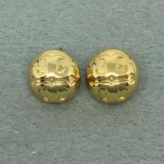 Tory Burch Sample Earrings 金色圓形經典logo耳環 沒有原裝耳環托