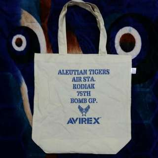 AVIREX MILITARY ARMY CANVAS TOTE BAG