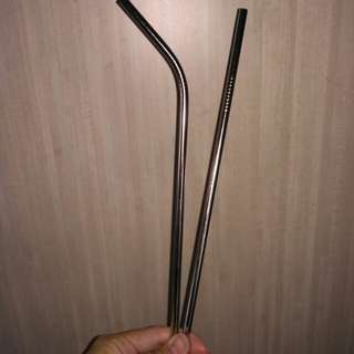 Stainless Steel Metal reusable straws!