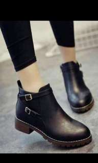 Korean Black Boots (size 39)