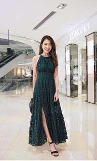 Stardust Lace Maxi Dress ( Ohvola )